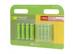 Acumulator AAA (R3) NiMH Recyko 850mAh 4+4 buc/blister organizator baterii GP - pret pe bucata