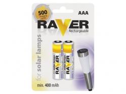 Acumulator Ni-MH Micro (AAA R03) 1.2V 400mAh Raver NIMH-AAA-400-BL2-RV