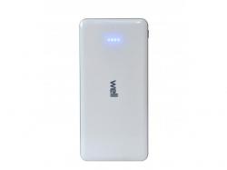 Acumulator USB portabil powerbank 10000mAh 2.1A alb Well ; Cod EAN: 5948636029857