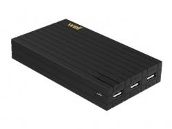Acumulator USB portabil powerbank 15000mAh 3.1A negru Well ; Cod EAN: 5948636031133