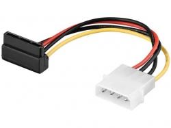 Adaptor alimentare 4 pini 5,25 tata > SATA 90°, 13 cm; Cod EAN: 4040849930300