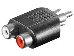 Adaptor audio RCA tata la 2 x RCA mama AA179-BU