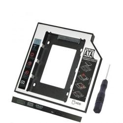 Adaptor caddy SSD pentru CD/DVD Bay, pentru Notebook, NORMAL, 12mm,