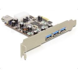 Adaptor Delock PCI Express x1 - 3 x USB 3.0 Type A external + 1 x USB 3.0 Type A internal
