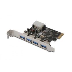 Adaptor Digitus PCI Express - USB 3.0 , 4-Port