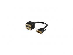 Adaptor DVI tata - DVI-I mama + SVGA mama; Cod EAN: 4040849687358