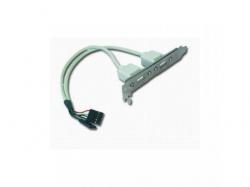 Adaptor Gembird Bracket 2x USB, CC-USB-RECEPTACLE