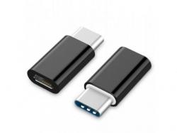 Adaptor Gembird, USB-C male - MicroUSB female, Black