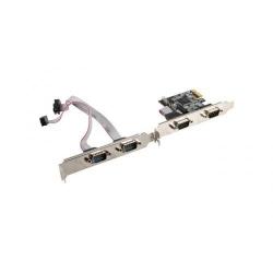 Adaptor Lanberg PCI Express PCE-DB9-004, 4x serial + Low profile bracket