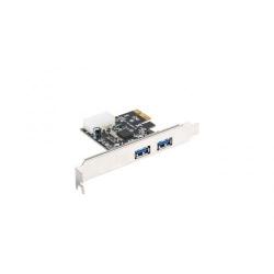 Adaptor Lanberg PCI Express PCE-US3-002, 2x USB 3.1+ Low profile