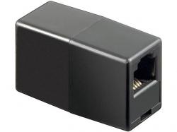 Adaptor modular 6P4C RJ11 mama la RJ11 mama, negru F-F-BK-BU