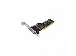 Adaptor PCI Loginik 1x PCI male - 1x Paralel female, Black