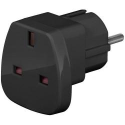 Adaptor priza Techly 942716, Black