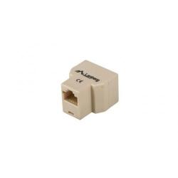 Adaptor retea Lanberg, 1x RJ45- 2x RJ45, Crem