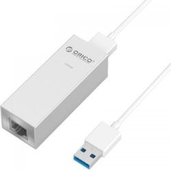 Adaptor retea Orico ASL-U3 PRO, 1x USB 3.0 - 1x RJ45, White