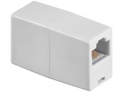 Adaptor UTP, ISDN 8P8C RJ45 mama la RJ45 mama, alb F-F-WE-BU (Prelungitor UTP)