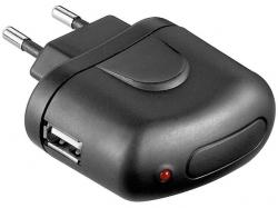 Alimentator SMPS AC/DC la USB 5V 1A, negru PSUP-AC-USB1,0-BK-BU