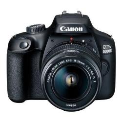 Aparat foto DSLR Canon EOS 4000D, 18MP, Black + Obiectiv EF-S 18-55 IS STM + Obiectiv EF 75-300 III