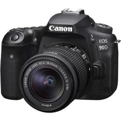 Aparat foto DSLR Canon EOS 90D Kit, 32.5MP, Black + Obiectiv EF-S 18-55mm f/3.5-5.6 IS STM