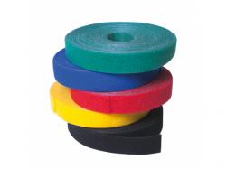 Banda organizatoare pentru cabluri Logilink, Velcro Tape, 4m, Black