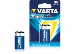 Baterie alcalina 6LR61 (9V) 4922 Varta High Energy BAT-6LR61HE-BL-VAR