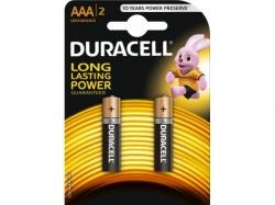 Baterie alcalina Micro (AAA R03) 1.5V MN2400 Duracell Basic BAT-LR03-BC-BL2-DUR