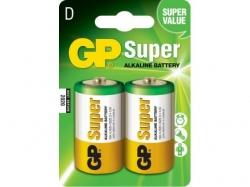 Baterie alcalina R20 (D) 2 buc/blister Super GP; Cod EAN: 4891199000003 - pret pe bucata