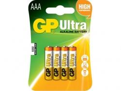 Baterie alcalina R3 (AAA) 4 buc/blister Ultra GP; Cod EAN: 4891199027659 - pret pe bucata