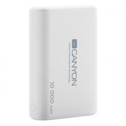 Baterie porabila Canyon CNS-CPBP10W, 10000mAh, 2x USB, White