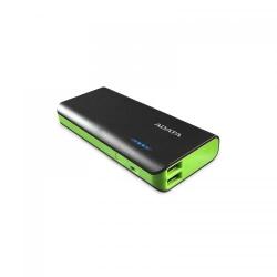Baterie portabila ADATA PT100, 10000mAh, 2x USB, Black-Green