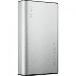 Baterie portabila Canyon CND-TPBQC10S, 10000mAh, 2x USB, Silver