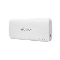 Baterie portabila Canyon CNE-CPB010W, 10000mAh, 2x USB, White
