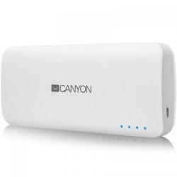 Baterie portabila Canyon CNE-CPB100W, 10000 mAh, 2x USB, White