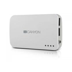 Baterie portabila Canyon CNE-CPB78, 7800 mAh, 2x USB, White