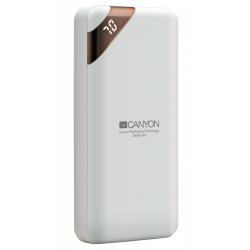 Baterie portabila Canyon Compact, 20000mAh, 2x USB, White