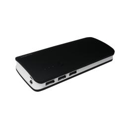 Baterie portabila Logilink PA0145, 10000mAh, 3x USB, Black