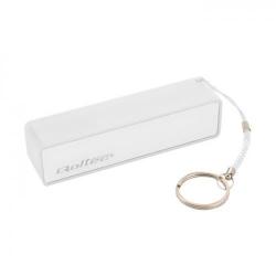 Baterie portabila Qoltec, 2600mAh, 1x USB, White