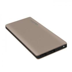 Baterie portabila Qoltec 51977, 8000mAh, 2x USB, Deep Gold