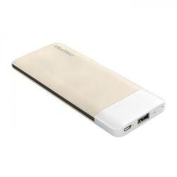 Baterie portabila Qoltec 51998, 6000mAh, 1x USB, Coffe