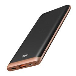 Baterie portabila Silicon Power QP65, 10000mAh, 1x USB-C, 1x USB, Black - Bronze