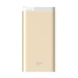 Baterie portabila Silicon Power S105, 10000mAh, 1x USB,  1x Lightning, Gold