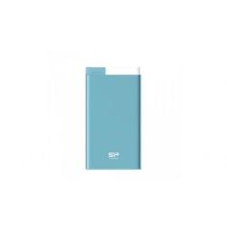 Baterie Portabila Silicon Power S55, 5000mAH, 1x USB, 1x Lightning, Light blue