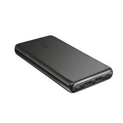 Baterie portabila Trust Esla Thin, 10000mAh, 2x USB, 1xUSB-C, Black