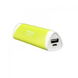 Baterie portabila Whitenergy, 2000mAh, 1x USB, Green