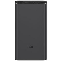 Baterie portabila Xiaomi Mi Power Bank 3, 10000 mAh, 1x USB, 1x USB-C, 1x microUSB, 18W, Black