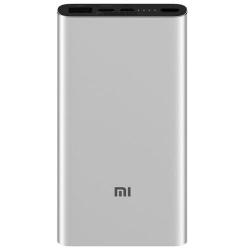 Baterie portabila Xiaomi Mi Power Bank 3, 10000 mAh, 1x USB, 1x USB-C, 1x microUSB, 18W, Silver