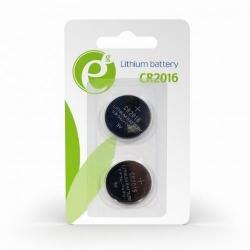 Baterii Gembird Button Cell CR2016, 2x 3V, Blister