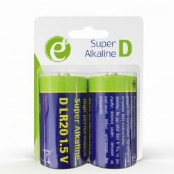 Baterii Gembrid Alkaline D-cell LR20, 2x 1.5V, Blister