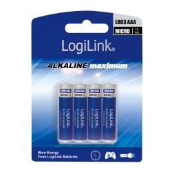 Baterii LogiLink Ultra Power Alkaline, 4x AAA/LR03, Blister