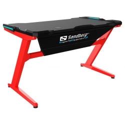 Birou gaming Sandberg Fighter Desk, Black-Red